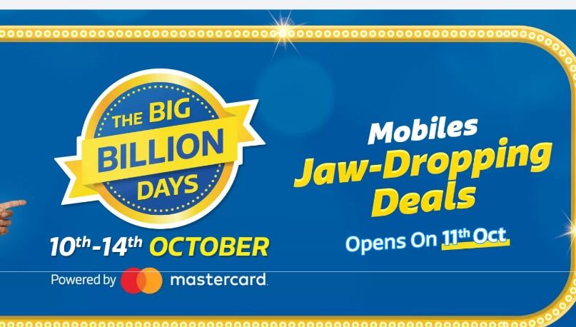 Flipkart Big Billion Days 2018 Sale Offers, Big Billion Day mobile offers