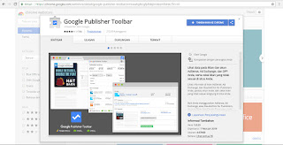 pemasangan google publisher toolbar pada google chrome