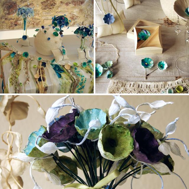 bouquet centrotavola e segnaposto per matrimonio ecosostenibile by Alessandra Fabre Repetto