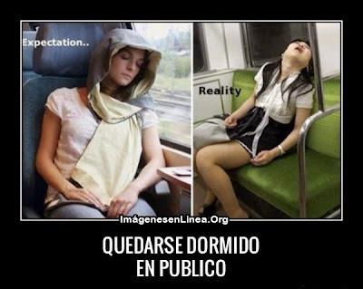 Quedarse dormido en público