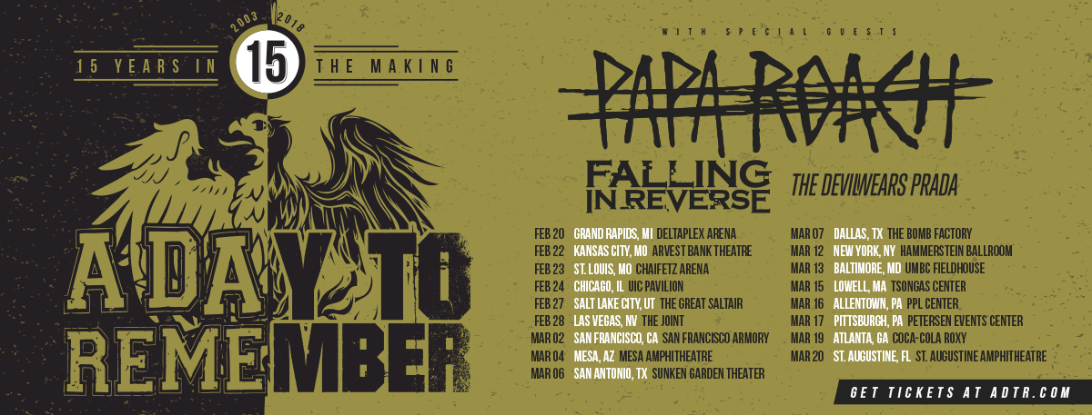 a day to remember announces 15 years in the making tour nataliezworld. Black Bedroom Furniture Sets. Home Design Ideas