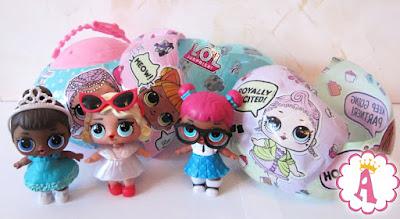 Слои в шаре с куклами L.O.L. Surprise