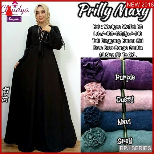RPJ083D194 Model Dress Prilly Cantik Maxy Wanita