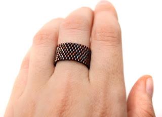 купить украшения из бисера стильные широкие кольца интернет магазин ру