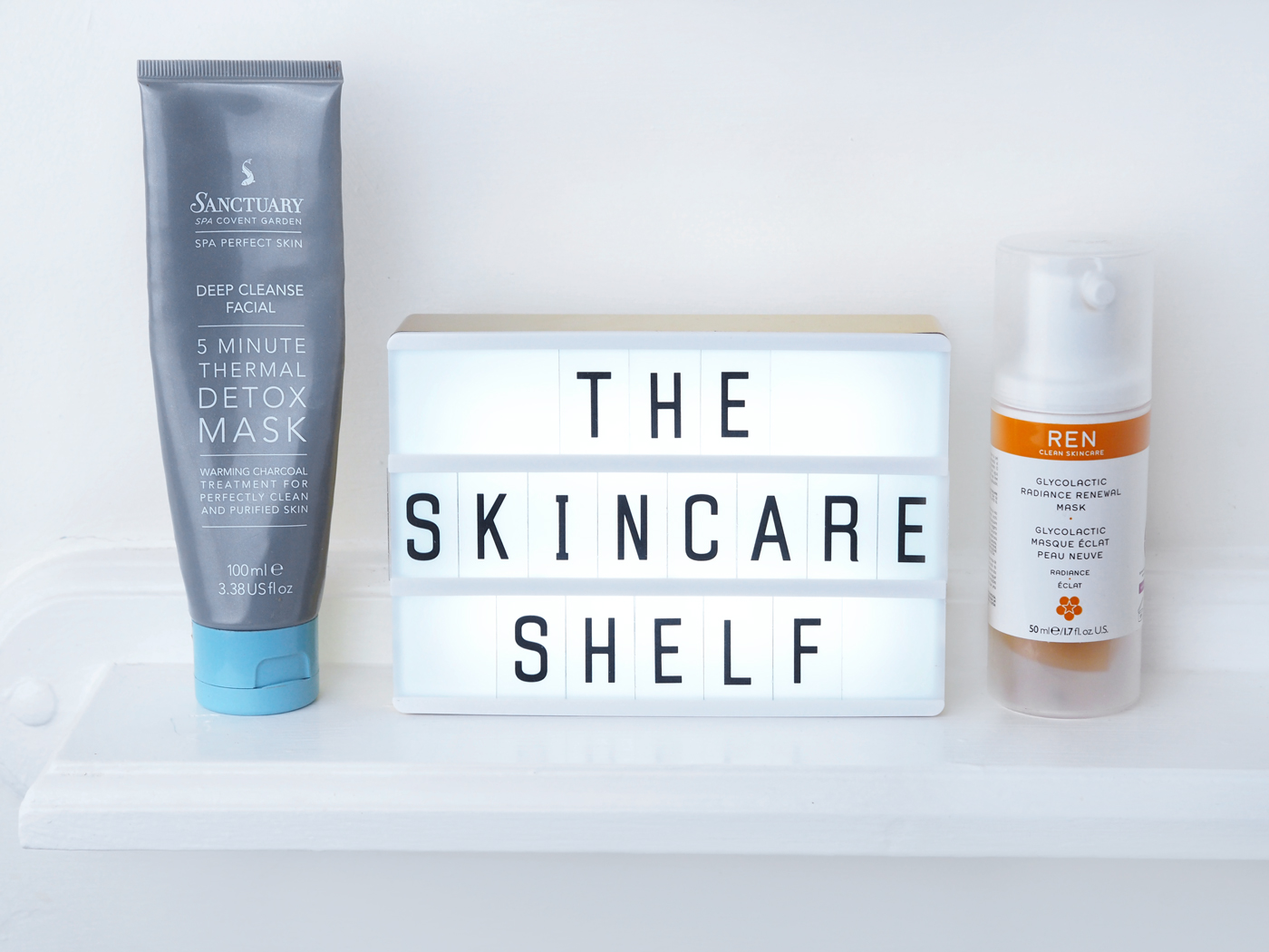 Winter Skincare Shelf masks