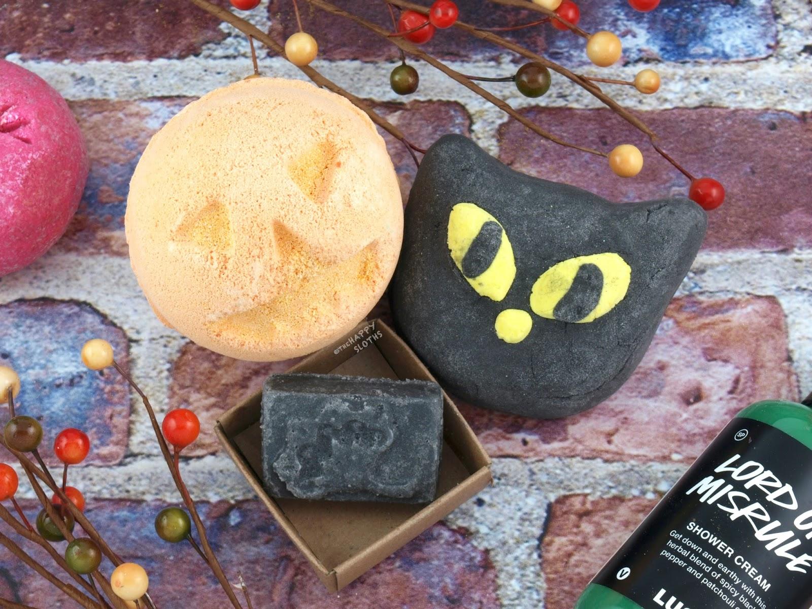 Lush Halloween 2017 Gift Guide: Pumpkin Bath Bomb, Bewitched Bubble Bar & Black Rose Naked Lip Scrub