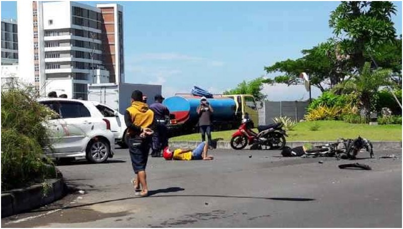 Ilustrasi kecelakaan sepeda motor
