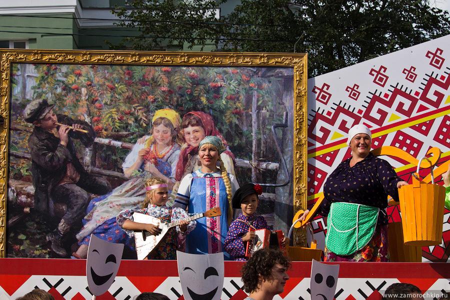 Творчество Федота Сычкова на праздновании тысячелетия единения мордовского народа с народами России