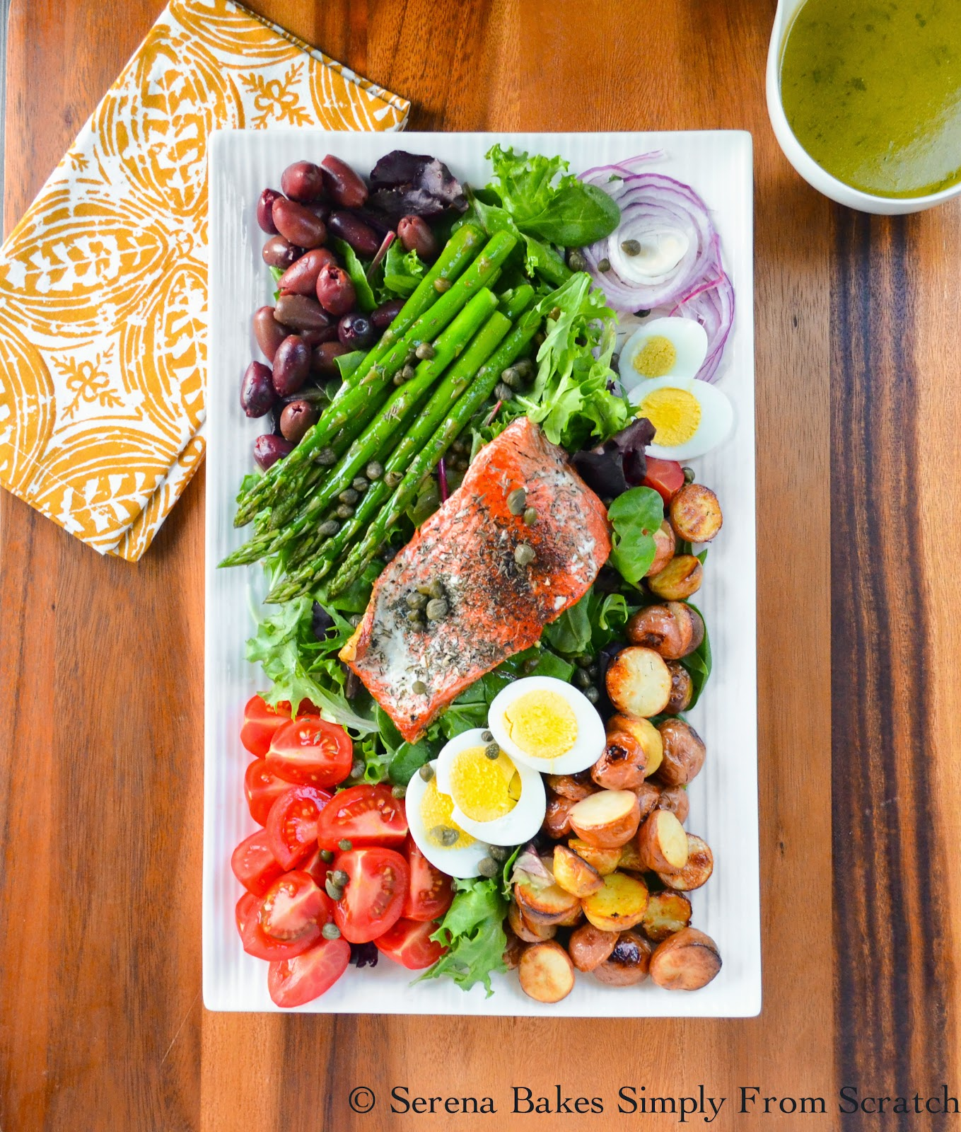 Salmon Nicoise Salad | Serena Bakes Simply From Scratch