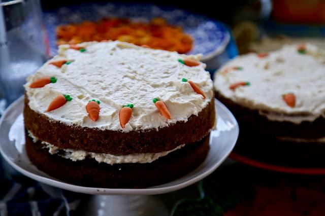 Carrot cakes at British Organic Carrot supper club Pic: Kerstin Rodgers/msmarmitelover.com