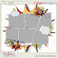 Template : July Challenge Template 2 by Kristmess Designs