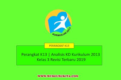 Analisis KD Kurikulum 2013 Kelas 3 Revisi Terbaru 2019