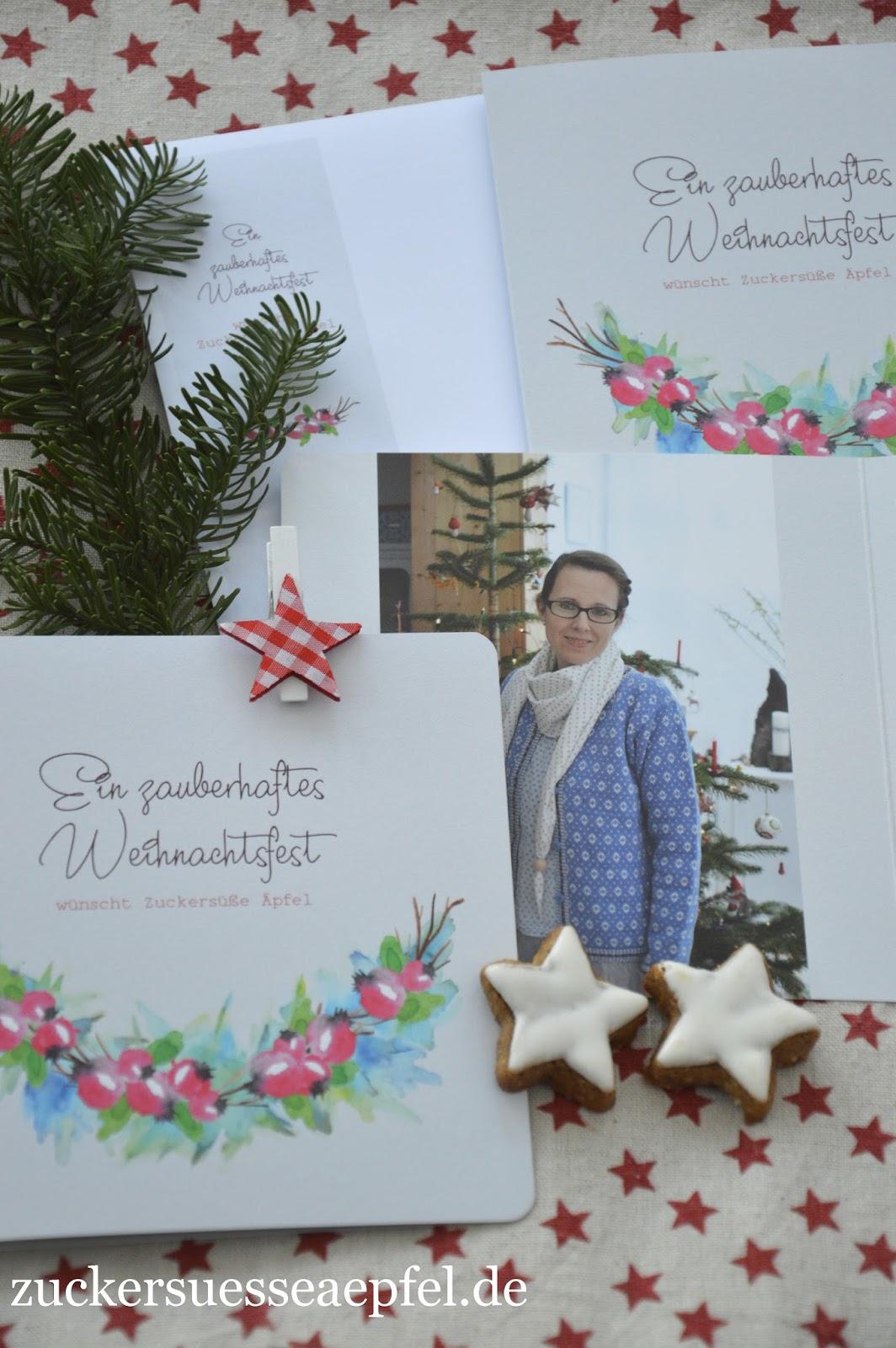 anzeige die sch nsten weihnachtskarten als dankesch n zuckers e pfel kreativer. Black Bedroom Furniture Sets. Home Design Ideas