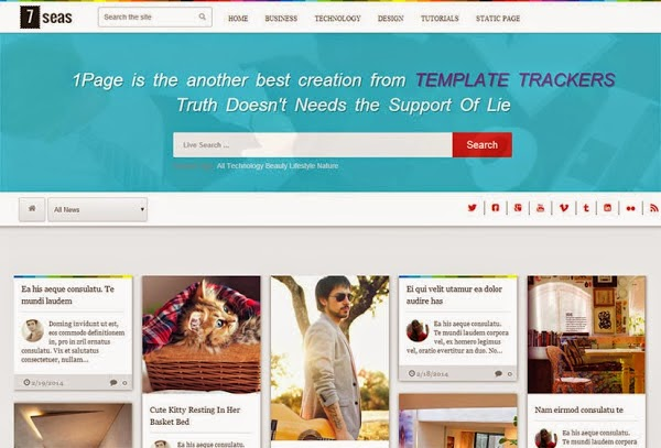 7seas Blog Blogger Template