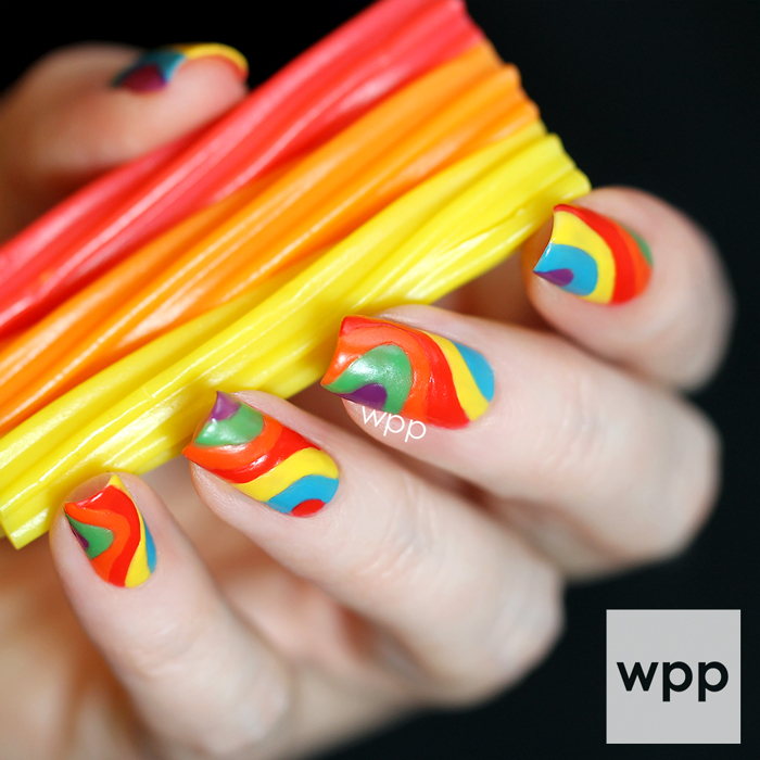 JulieG Candy Shoppe Collection Rainbow Licorice Nail Art