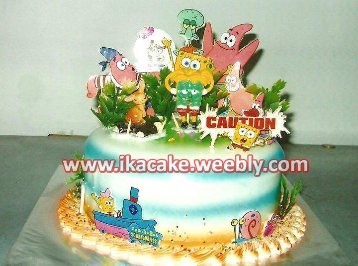 Kue Ulang Thun Sponge Bob K 036 Kue Ulang Tahun