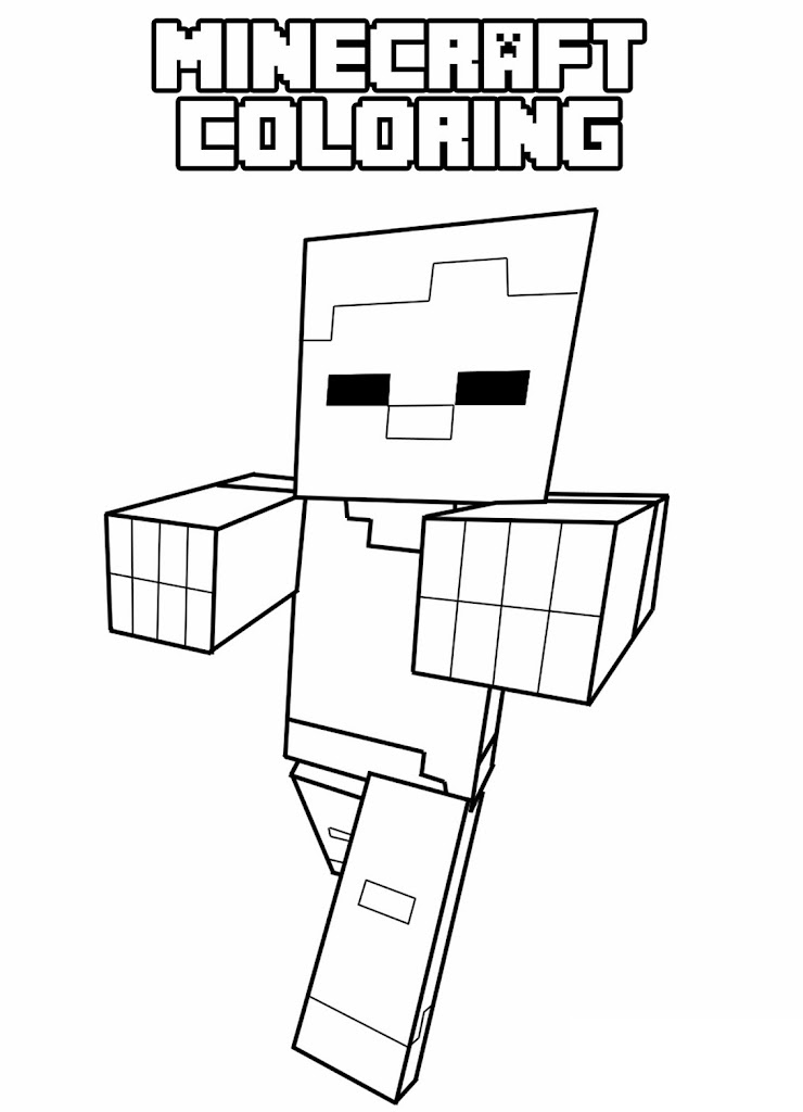 Best Minecraft Page Coloring Sheets Library