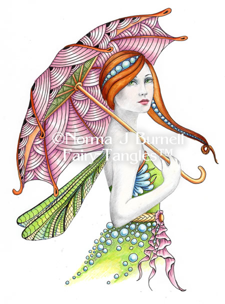 Fairy Tangles: Umbrella Fairy - Fairy Tangles Coloring ...