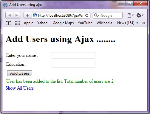 Ajax with Spring MVC 3 using Annotations and JQuery | Java Code
