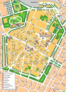 Mapa de Módena.