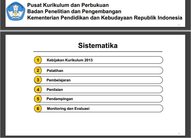 Download Kebijakan Kurikulum 2013 pada Tahun 2016 Format PDF