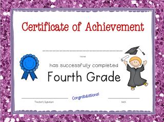 4th Grade Certificate