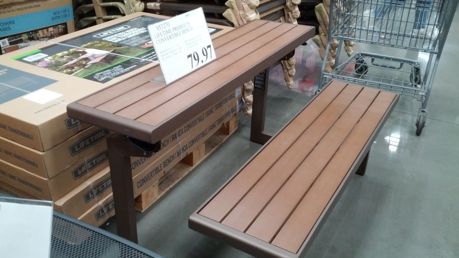 Costco Bench Table 28 Images Lifetime Products Folding Picnic Costcochaser Cafekid