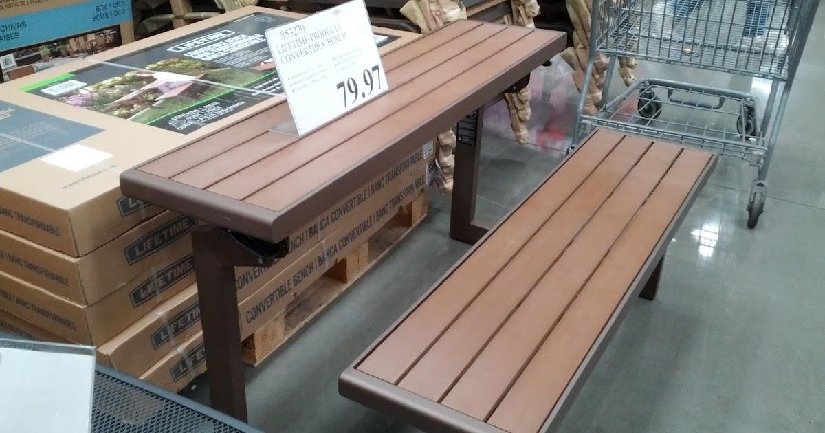 Lifetime Convertible Bench Costco Weekender