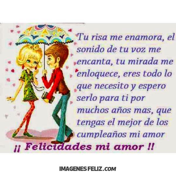 Feliz Cumpleaños Amor Imágenes Frases Bonitas