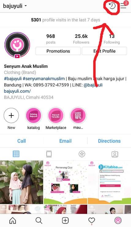 Masuk ke Halaman Arsip Instagram