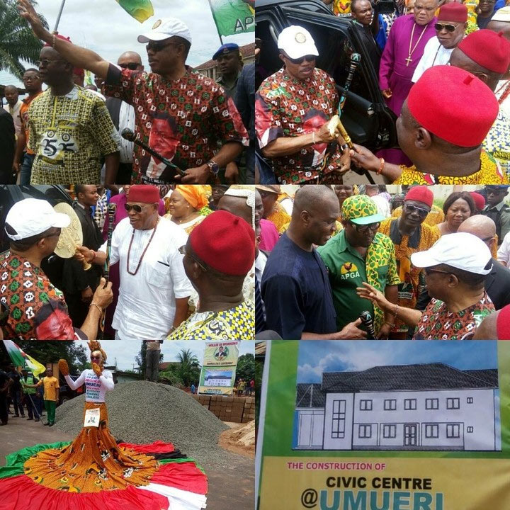Obiano flags off construction of Civic Center in Umuleri, N20m projects in 179 communities