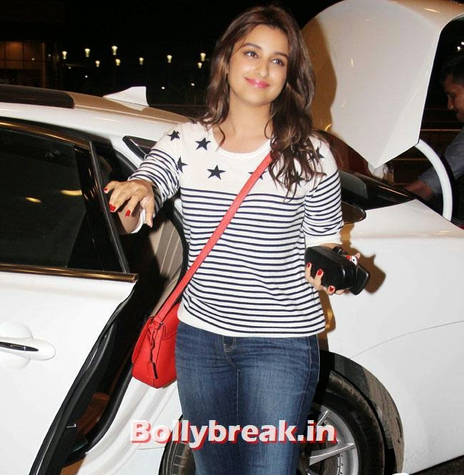 Parineeti Chopra, Parineeti Chopra, Sonam Kapoor & Other Celebs Set Out For IIFA 2014