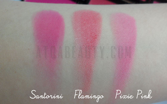 Sleek Blush: Santorini, Flamingo, Pixie Pink