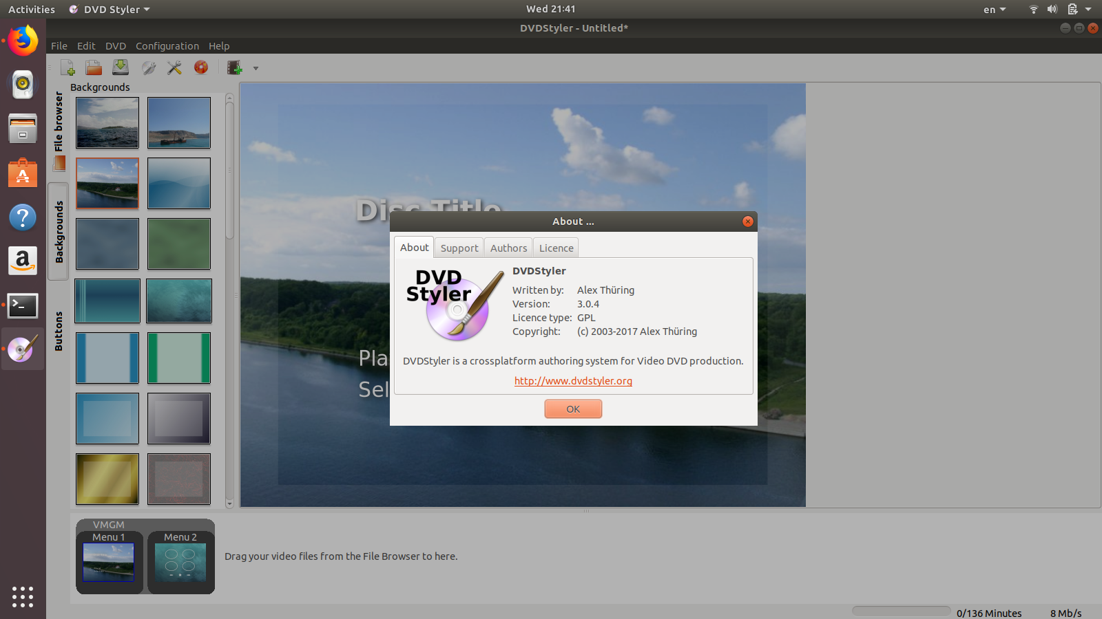 How to install program on Ubuntu: How to install DVDStyler 3 0 4 on