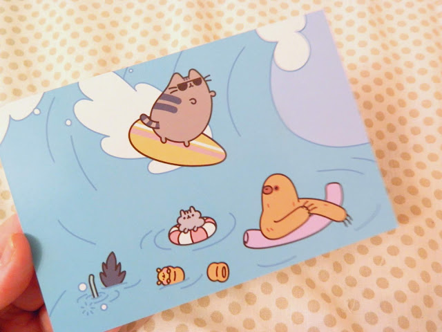 Very cute Pusheen postcard that comes with the Summer 2018 Pusheen Box