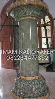 harga penegcatan wash marmer, kaligrafi masjid