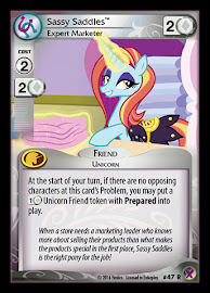 My Little Pony Sassy Saddles, Expert Marketer Marks in Time CCG Card