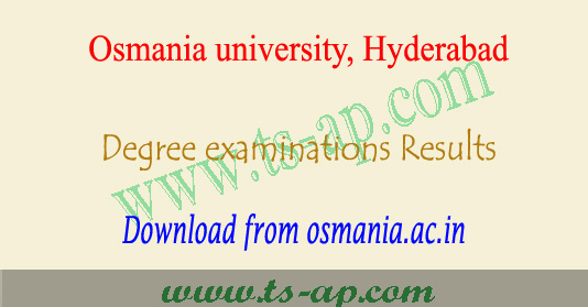 OU degree results 2019-2020 manabadi 1st 2nd 3rd year exams