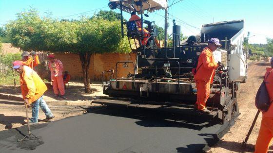 Caxias: Recapeamento asfáltico chega ao bairro Salobro