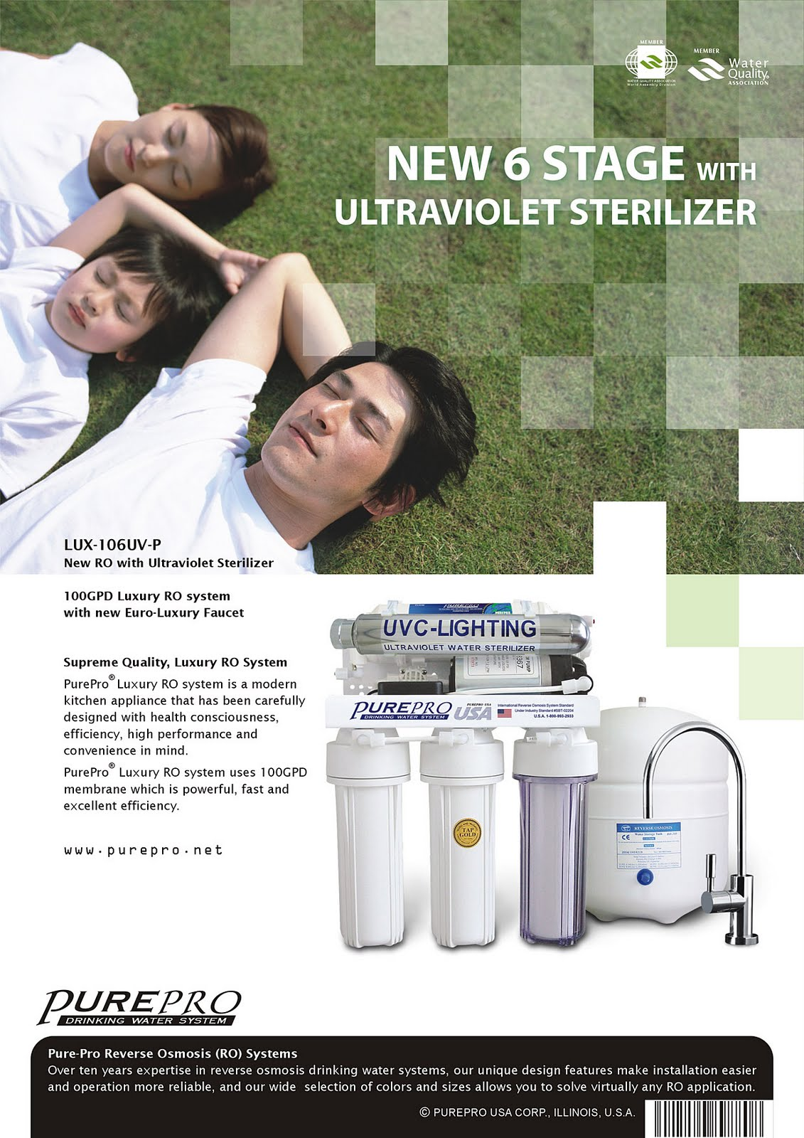 PurePro® LUX-106UV-P Reverse Osmosis Water Filtration System