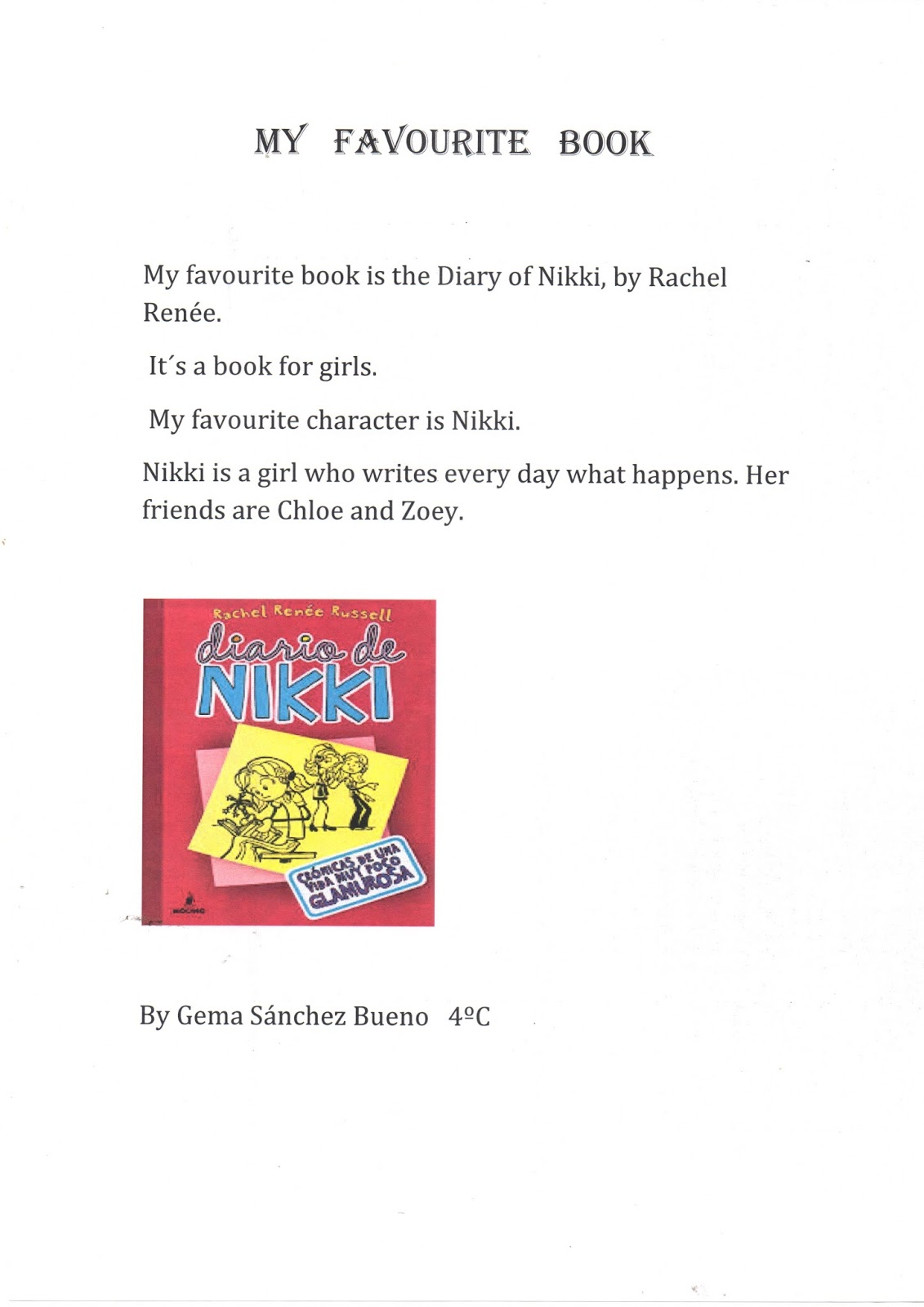 The English Class Blog My Favourite Book