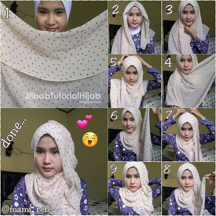Tutorial Hijab Segi Empat untuk Sehari-hari | Jilbab