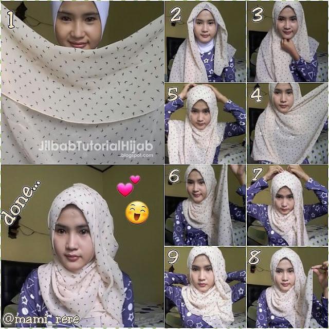 Tutorial Hijab Segi Empat untuk Sehari-hari simple dan cantik