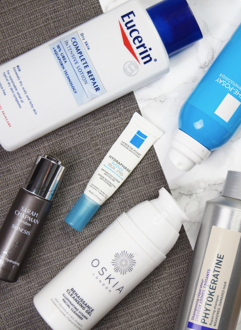 used up empty finished products review oskia renaissance cleansing gel sarah chapman intense hydrating booster serum la roche posay serozinc hydra phase intense eye photo phytokeratine reparative shampoo serum phytomist the body shop wild organ body butter eucerin complete repair body lotion