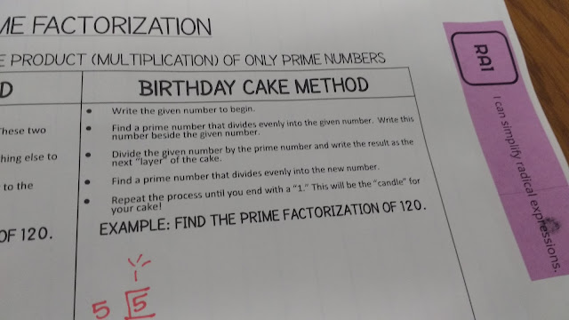 The Birthday Cake Method For Finding Prime Factorization