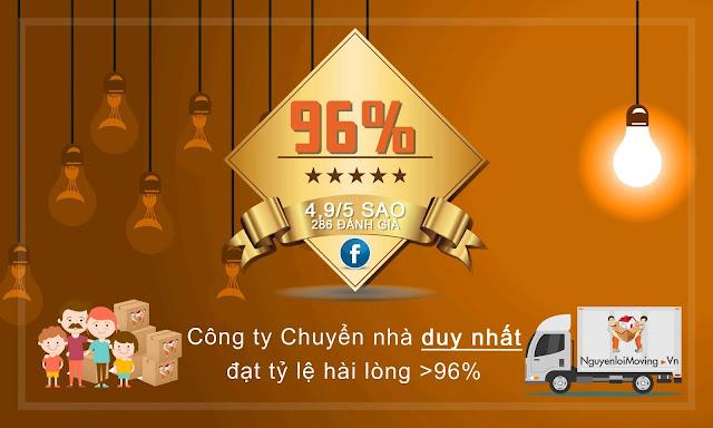 Công ty chuyển nhà duy nhất tại TPHCM đạt tỷ lệ hài lòng >96%