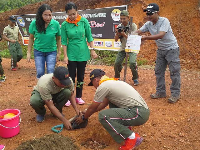 Tanam Pohon Bersama TNI