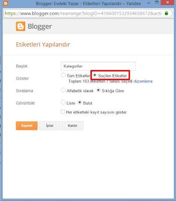 Blogger Kategori Oluşturma