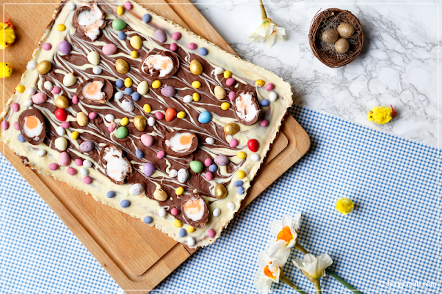 Easter Egg Alternative Chocolate Bubblewrap Bark