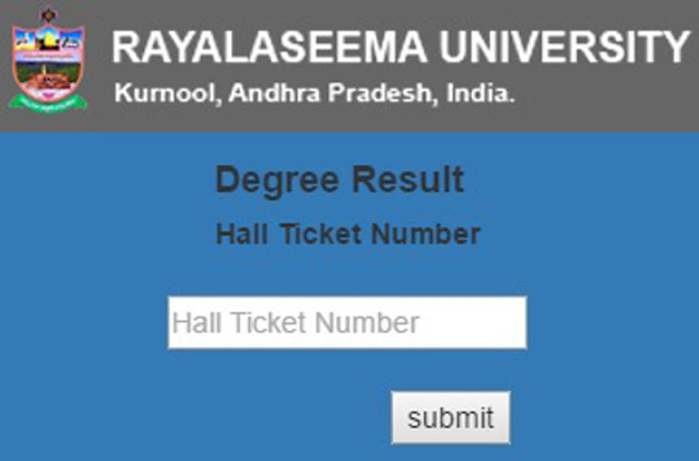 Rayalaseema University Degree Results 2016-2017